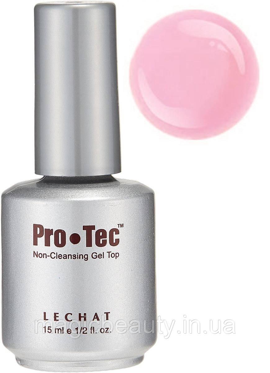 Lechat Pro-Tec Gel Top Non-Cleansing French Pink- Топ-гель без липкости, розовый матовый, 15 мл
