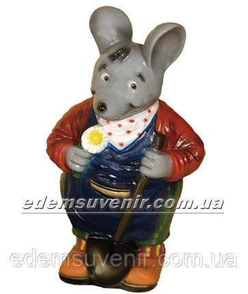 Садовая фигура Мышь с лопатой, фото 2