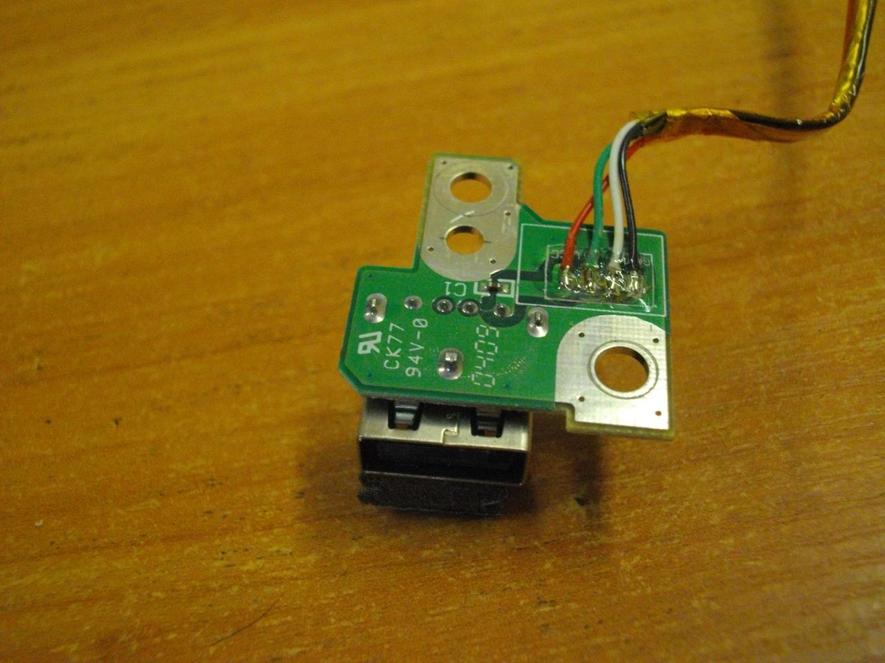 Плата 01-01000197-00 с USB разъемом портом гнездом Toshiba SPM30 PSM35E M30 M35 PSM35E-000MN-RU бу