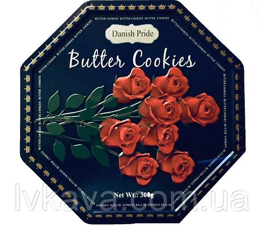 Печенье ассорти Butter cookies Розы Danish Pride, 300 гр, ж\б, фото 2