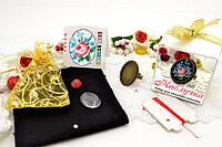 Набор для вышивки нитками украшений (микровышивка). Кольцо. НМ-11К