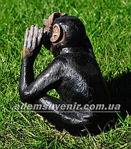 Садовая фигура Обезьяна слепая, фото 3