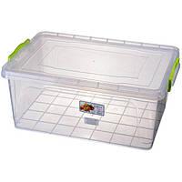 Контейнер с крышкой из пищевого пластика для хранения продуктов, вещей 17 л 450Х312Х190 мм Ал-Пластик OST-138