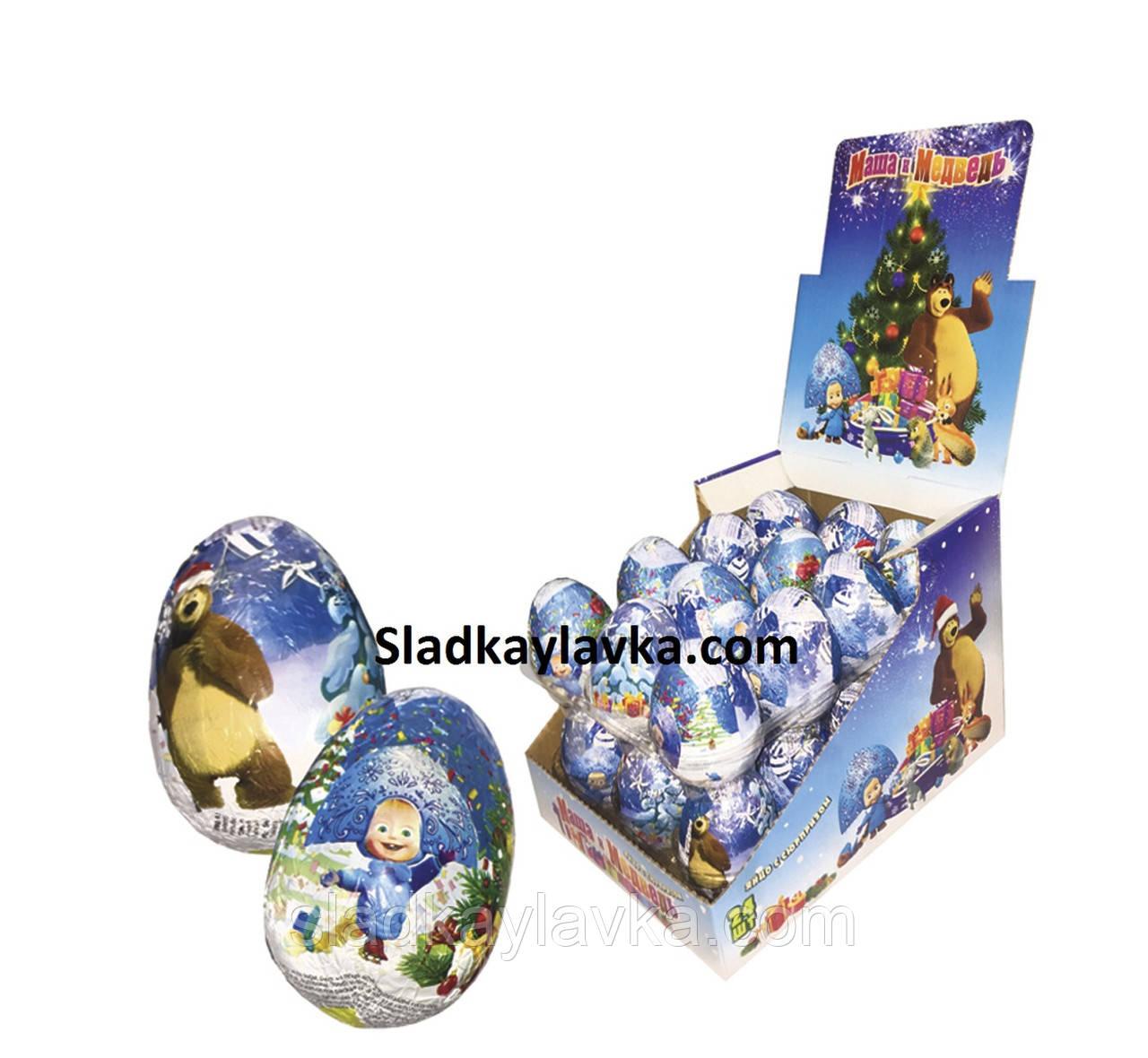 Шоколадное яйцо Маша и Медведь Новогоднее 25 г 24 шт (ANL)