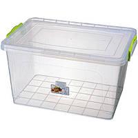 Контейнер с крышкой из пищевого пластика для хранения продуктов, вещей 23 л 450Х312Х250 мм Ал-Пластик OST-139