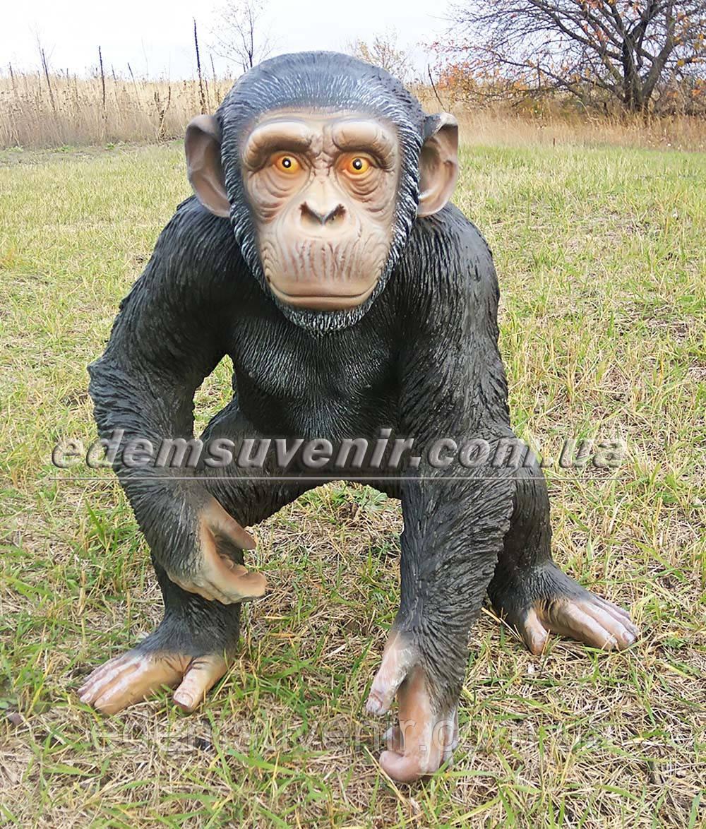 Садовая фигура Шимпанзе большой