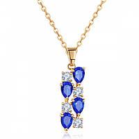"""Подвеска """"Dior indigo"""" позолоченная с кристаллами swarovski"""