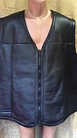 Безрукавка чоловіча з натуральноюї шкіри 3XL