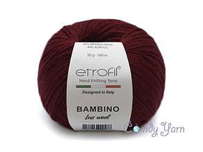 Etrofil Bambino Lux wool,Бордо №70316