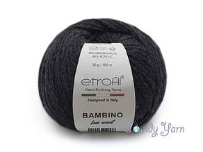 Etrofil Bambino Lux wool, Графит №70087