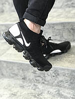 Кроссовки в стиле Nike Air VaporMax Flyknit 2 Black/White мужские