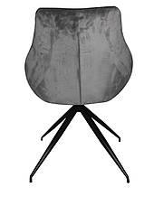 Стул поворотный мягкий, обивка ткань серого цвета  Марио PRESTOL, фото 3
