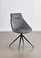 Стул поворотный мягкий, обивка ткань серого цвета  Марио PRESTOL, фото 2