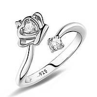 "Кольцо ""Givenchy 925"" покрытие серебро с кристаллами swarovski"