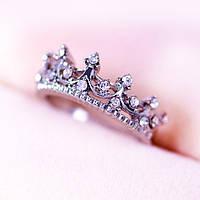 """Кольцо """"Queen"""" покрытие серебро с кристаллами swarovski"""