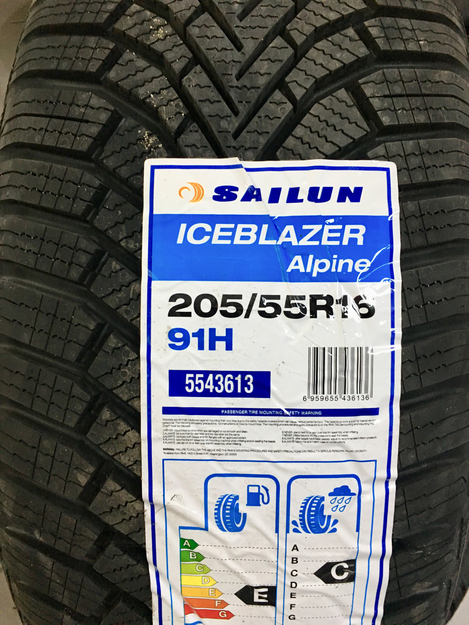 Зимняя шина Sailun Ice Blazer Alpine 205/55R16 91H