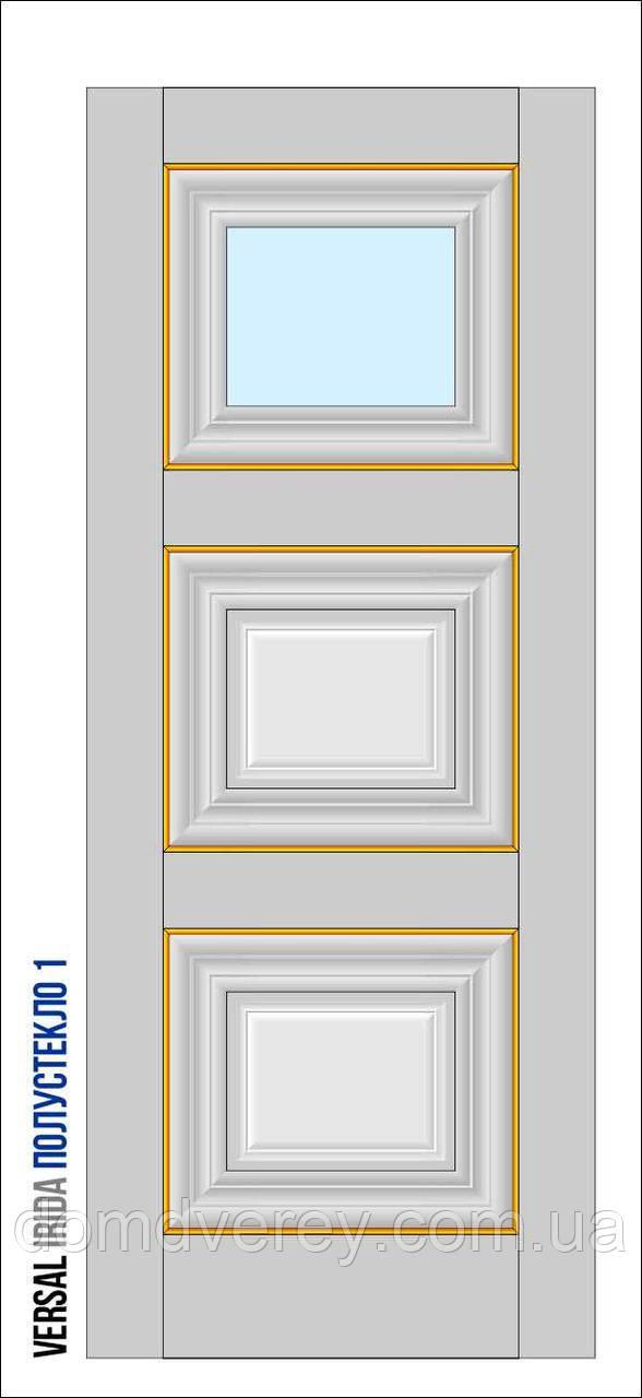 Двери межкомнатные, Родос, Versal, Irida, с одним стеклом, grand molding