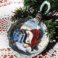 Подвеска медальон на елку Подарок на День Святого Николая Рождество Новый год , фото 1