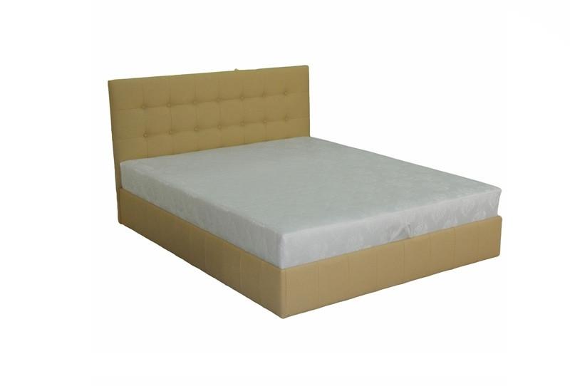 Ліжко півтораспальне в спальню з натурального дерева з підйомним механізмом Богема Скіф