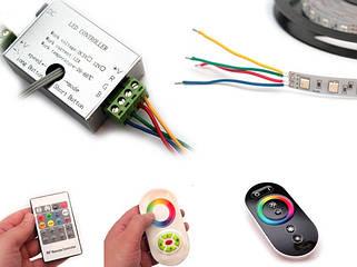 Контролери, диммери, підсилювачі LED