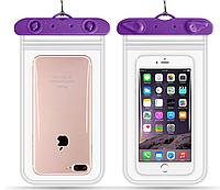 """Водонепроницаемый чехол для смартфона, телефона или iphone, Флуорисцентныйдо 6"""" фиолетовый"""
