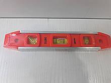 """Рівень """"Торпедо"""" 235 мм, три вічка, з магнітом SPARTA 346115"""