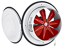 Вентилятор осьовий з кришкою Бахчиван Bahcivan BK 250