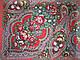 Шерстяной платок с пышной бахромой дыхание лета, красный 120см, фото 4