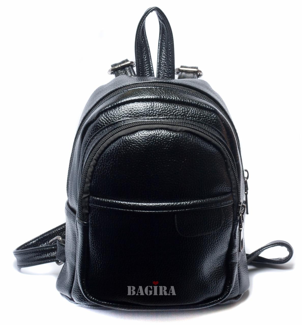 c65dd2fc7f64 Женский маленький рюкзак из глянцевого кожзаменителя  (Черный/Голубой/Зеленый) - Интернет-