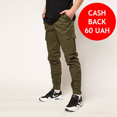 Зауженные карго штаны хаки мужские от бренда ТУР Симбиот (Symbiote) размер S, M, L, XL, XXL