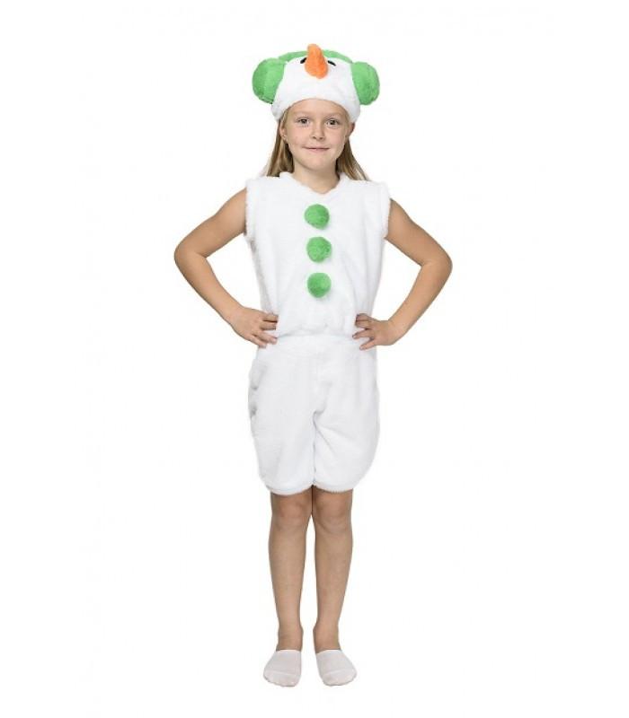 Карнавальный костюм СНЕГОВИК, СНЕГОВИЧОК на 3-7 лет, 104-122 см, детский новогодний костюм Снеговика