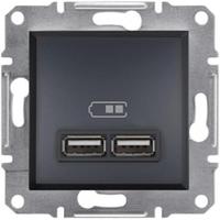 Розетка USB 2.1A Schneider Electric Asfora Антрацит EPH2700271
