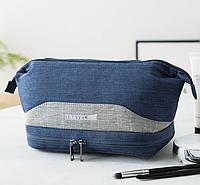 Органайзер-косметичка дорожная Travel Bag 24*15*12 см, синий.
