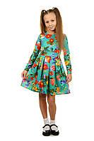 Нарядное платье для девочки с трикотажа на праздник