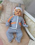 """""""Спорт- стар"""" комплект одежды для новорожденного. Возраст от 0 до 3 мес, фото 2"""