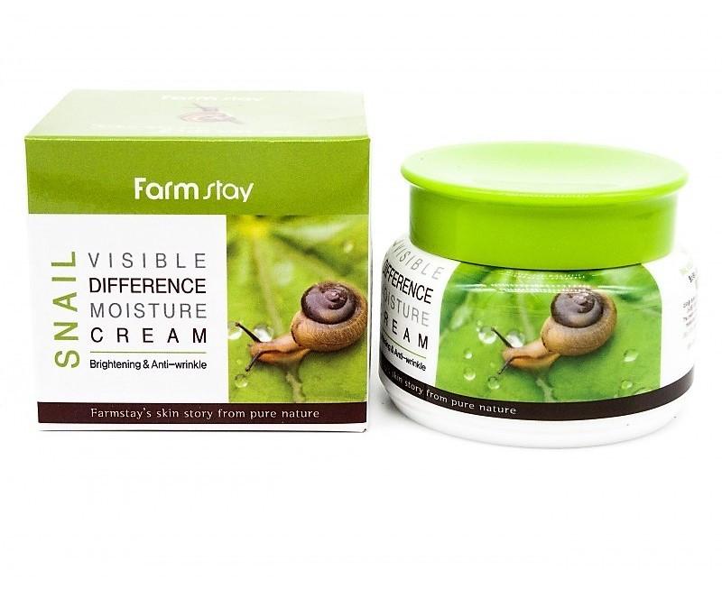 Увлажняющий крем со слизью улитки FarmStay Visible Difference Moisture Cream Snail