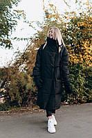 Женский зимний пуховик ниже колен на температуру -25