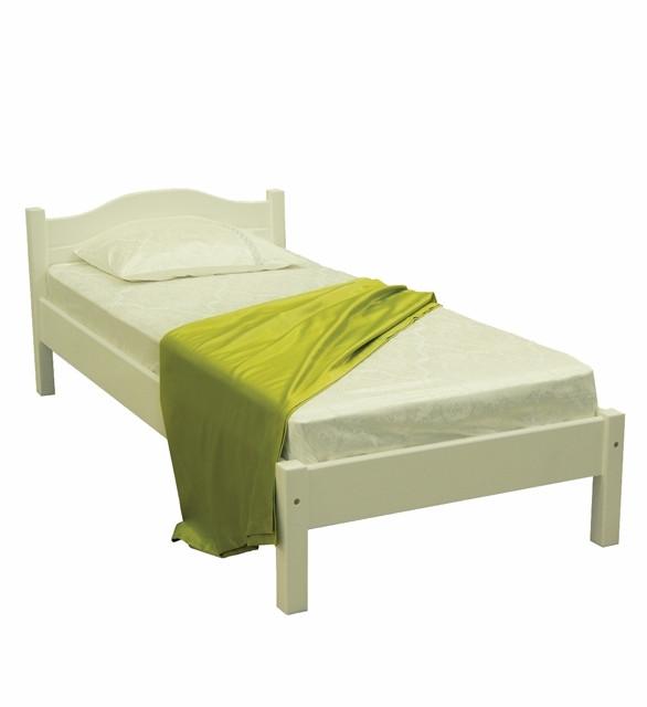 Ліжко односпальне в спальню та дитячу з натурального дерева Л-104 Скіф