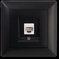 Visage Черный Розетка компьютерная одинарная (RJ45 Cat6)