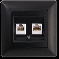 Visage Черный Розетка компьютер-телефон (RJ45 Cat5e-RJ11)