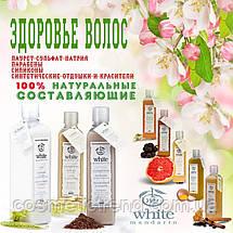 Шампунь органический натуральный для сухих и ломких волос СИЯНИЕ И БЛЕСК White Mandarin (серия Цитрус) 250 мл , фото 2