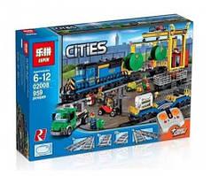 """Конструктор Lepin 02008 (аналог Lego City 60052) """"Грузовой поезд"""", 959 дет"""