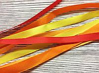 Лента атласная 1см Микс Оранжевый (1) 4шт*2м
