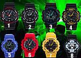 Спортивные наручные часы Casio G-Shock ga-100 Black-Red Касио, фото 2