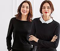 Пуловер с блузочным воротником женский от TСМ Tchibo, Германия, размер 36 евро (42-44 укр)