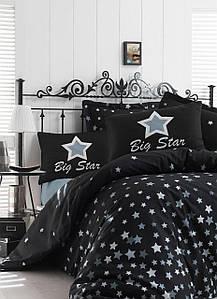 Постельное белье Eponj Home WhiteStar Siyah черный евро размер