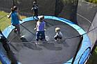 Батут FunFit 404 см для дітей і дорослих з захисною сіткою і драбиною, фото 3