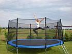 Батут FunFit 404 см для дітей і дорослих з захисною сіткою і драбиною, фото 6