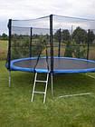 Батут FunFit 404 см для дітей і дорослих з захисною сіткою і драбиною, фото 2