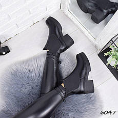 """Ботинки, ботильоны черные ЗИМА """"Mikis"""" НАТУРАЛЬНАЯ КОЖА, повседневная, теплая, зимняя, женская обувь, фото 2"""